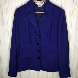 Carlisle Royal blue wool blend blazer Size 8